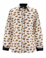 Grenouille Ladies Long Sleeve Clown Fish Print Shirt